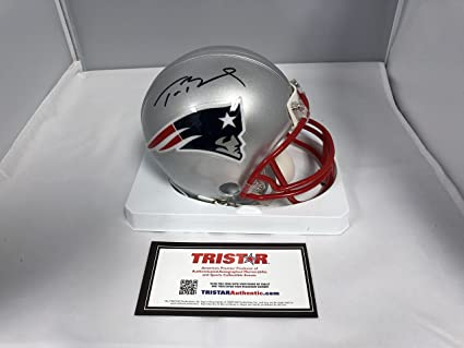 9bebda968a6 Image Unavailable. Image not available for. Color  Tom Brady Autographed  Signed New England Patriots Mini Helmet TRISTAR Authentic COA   Hologram