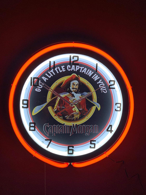Captain Morgan 19 Inch Double Neon Clock