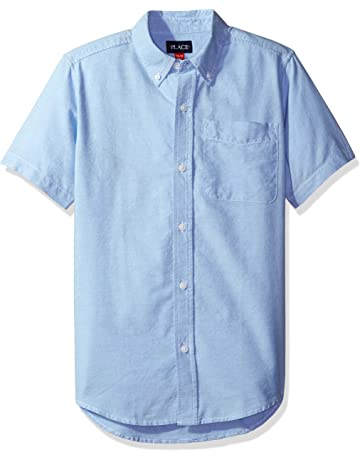 f46525a4f The Children's Place Boys' Short Sleeve Uniform Oxford Shirt