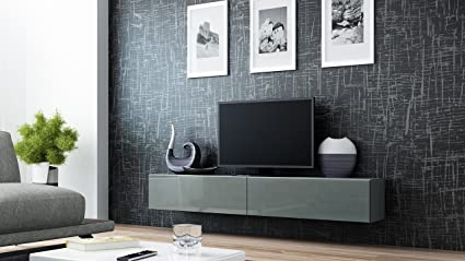 Seattle Floating TV Cabinet U2013 TV Stand With High Gloss Fronts   Seattle Hanging  TV Console