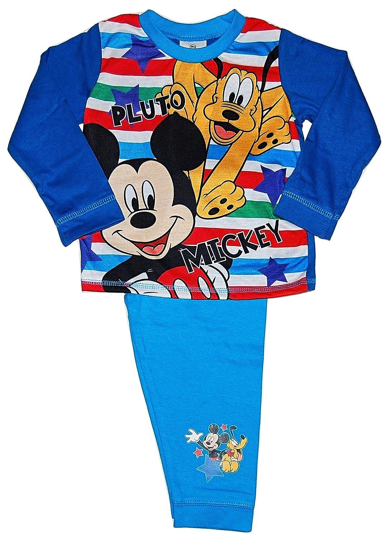 Boys Mickey Mouse Pluto Pyjamas 12-18 18-24 Months 2 3 4 Years