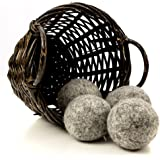 Dark Wool Dryer Balls, 4-Pack — Made For Drying Colors/Darks — Natural Fabric Softener — Ecofriendly & Organic — Reusable Dryer Sheets for Infants