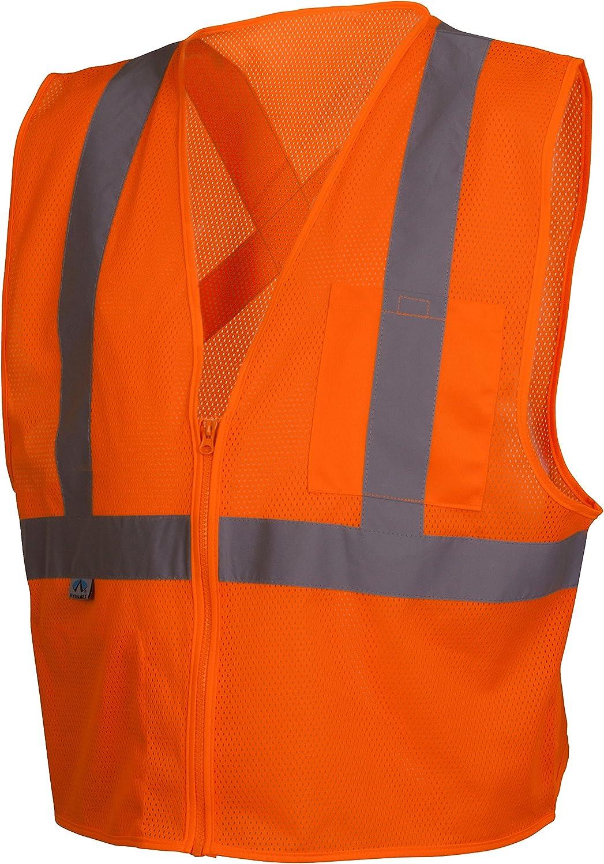Pyramex RCZ2110XL Hi-Vis Lime Safety Vest with Reflective Tape