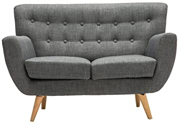 birlea loft 2 seater sofa fabric grey amazon co uk kitchen home rh amazon co uk 2 seater sofa grey uk 2 seater grey sofa next
