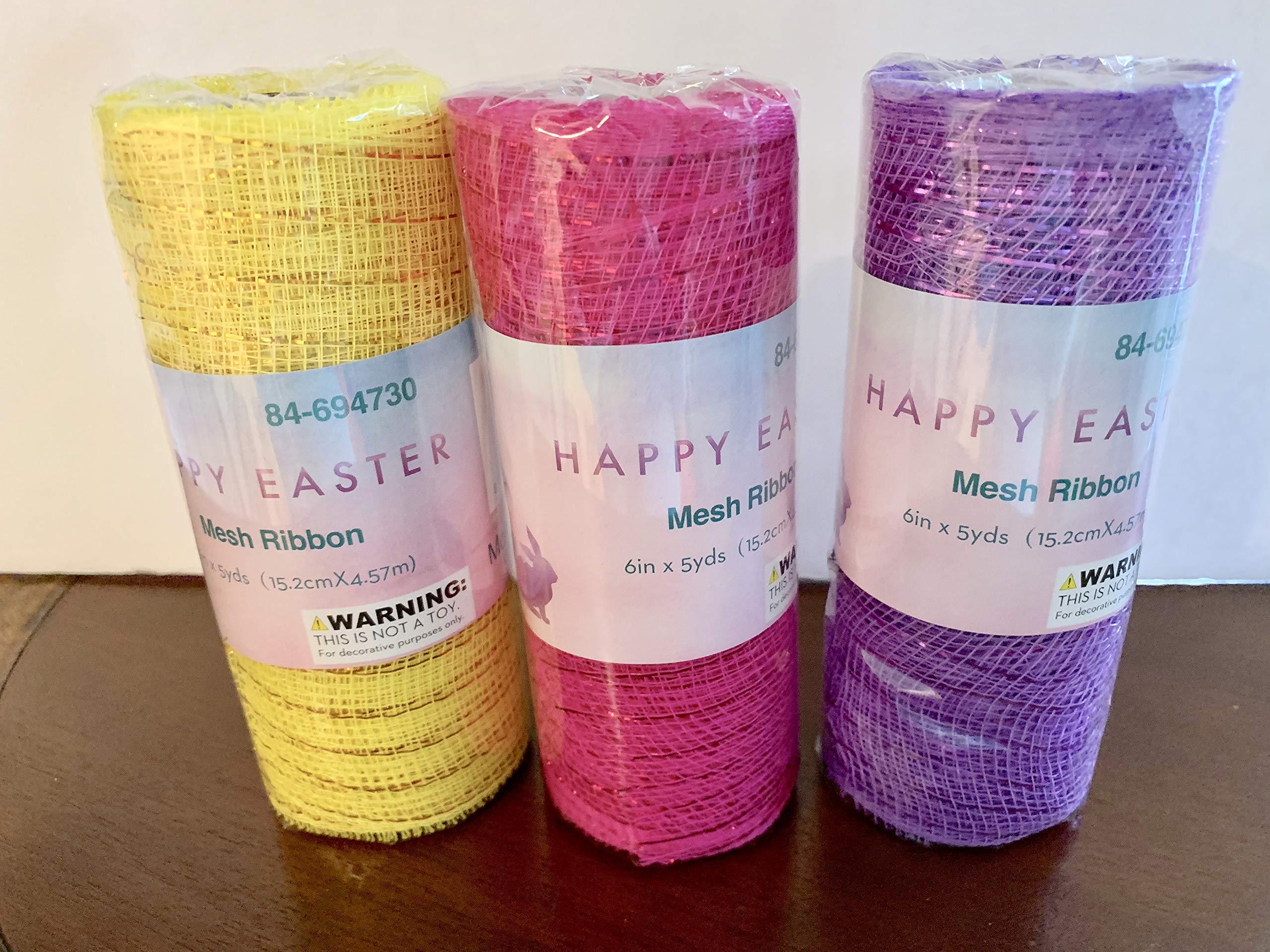 Momentum Easter Mesh Ribbon 3 Pack