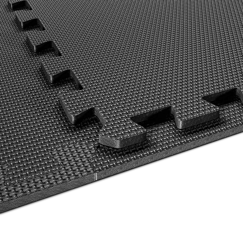 12 Borde Incluido Antideslizante VLFit Enclavamiento Azulejos de Espuma EVA Puzzle Alfombra de Ejercicio 6 Azulejos Protector de Suelos para Gimnasio Equipo y para Entrenamientos