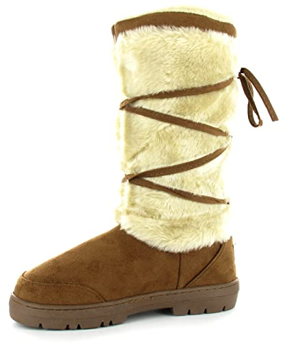 931eae7edc00 NEW TALL FULLY FUR LINED WINTER SNOW BOOTS ELLA SHOES KITTY  Amazon ...