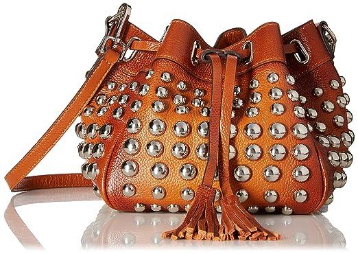 fbd8b8f5d4f Vicenzo Leather Jolyn Studded Mini Bucket Bag