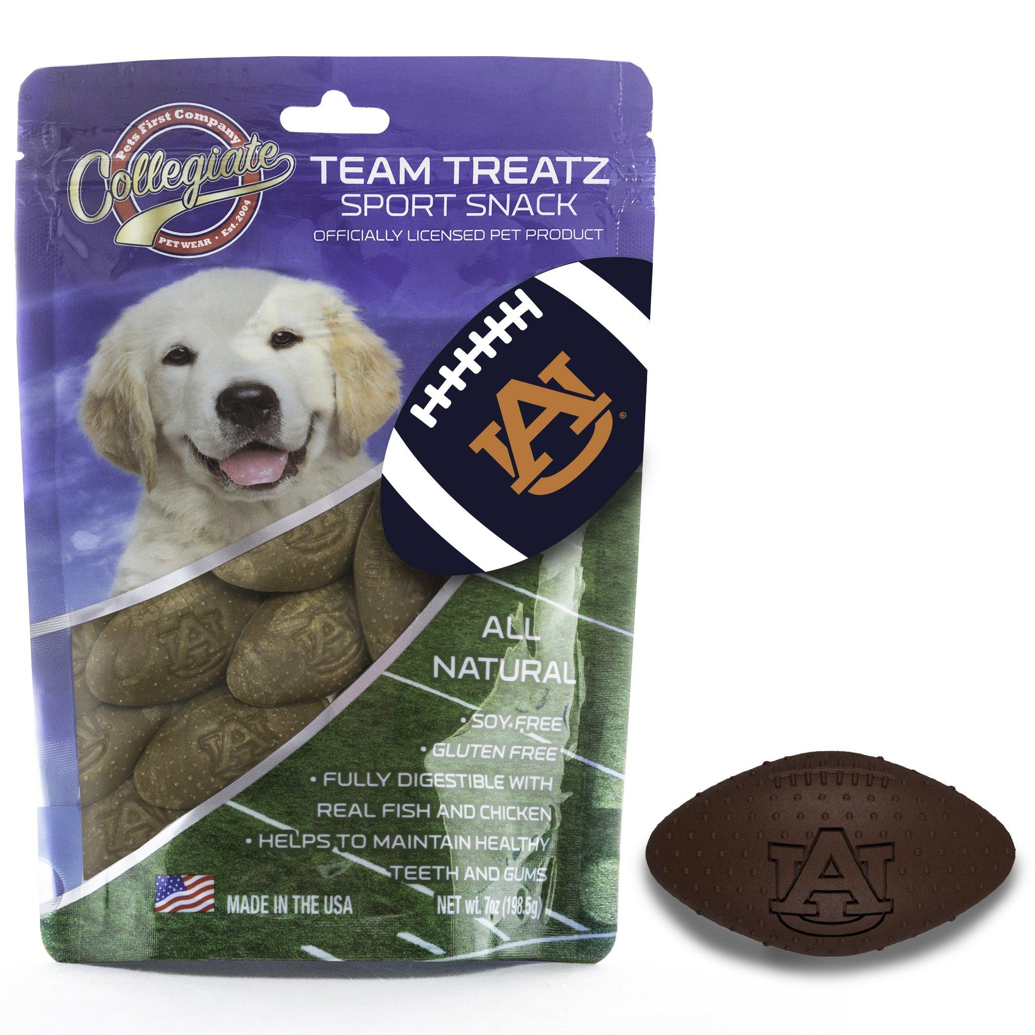 Pets First Collegiate Pet Accessories, Dog Treats, Auburn Tigers, 7 oz