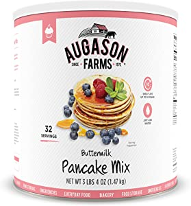 Augason Farms Buttermilk Pancake Mix 3 lbs 4 oz No. 10 Can