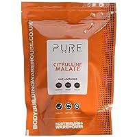 Bodybuilding Warehouse Pure Citrulline Malate Powder, Unflavoured, 500 g
