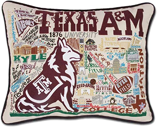 Catstudio Texas A M University Collegiate Embroidered Decorative Throw Pillow
