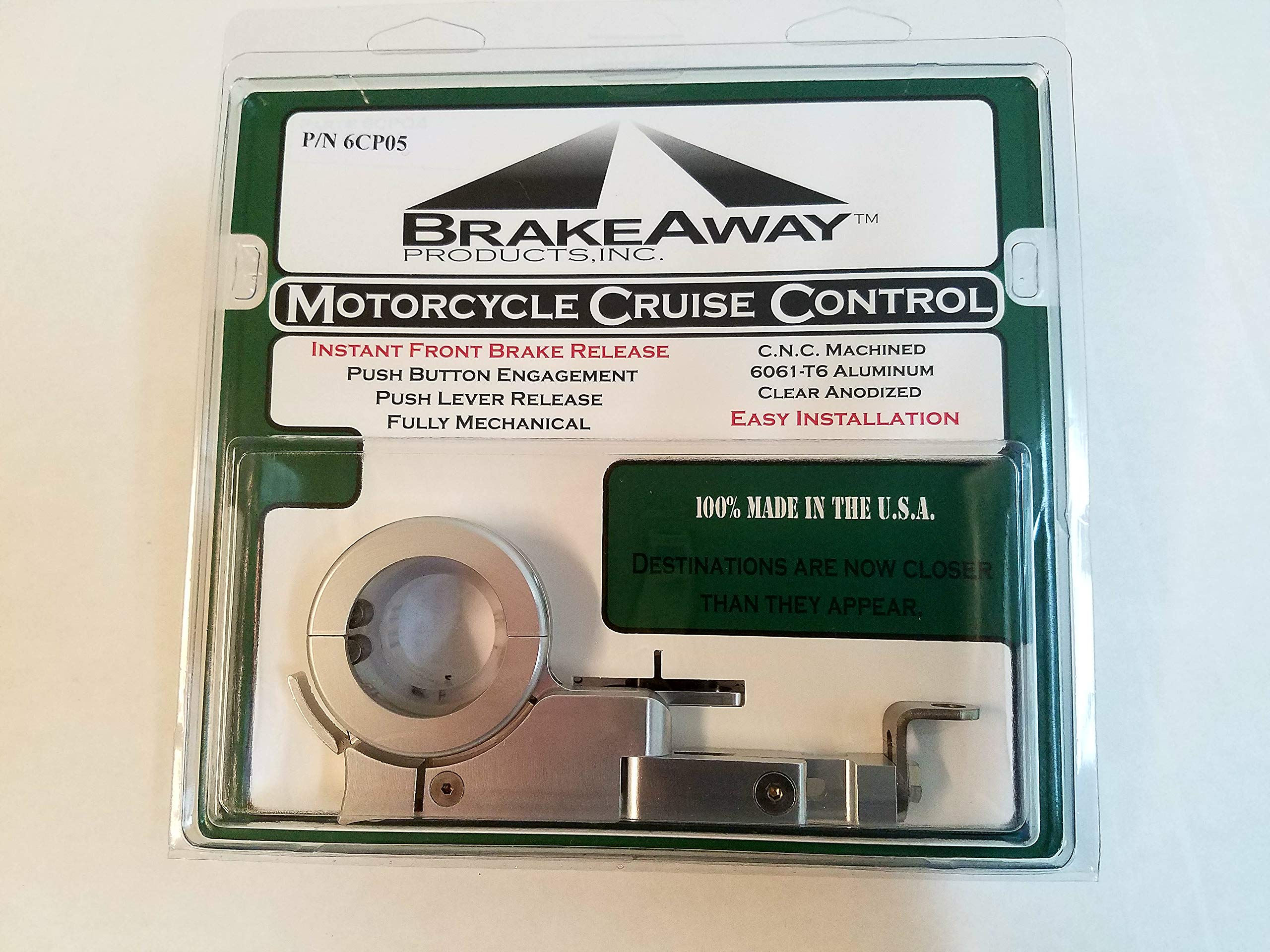 BrakeAway Motorcycle Cruise Control Throttle Lock 1996 and Newer Harley Davidson Motorcycles with Throttle Cables 6CP05 1.0'' Handlebar