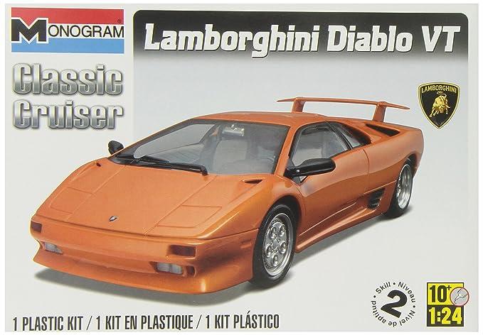 Amazon Com Revell Monogram Lamborghini Diablo Vt Toys Games