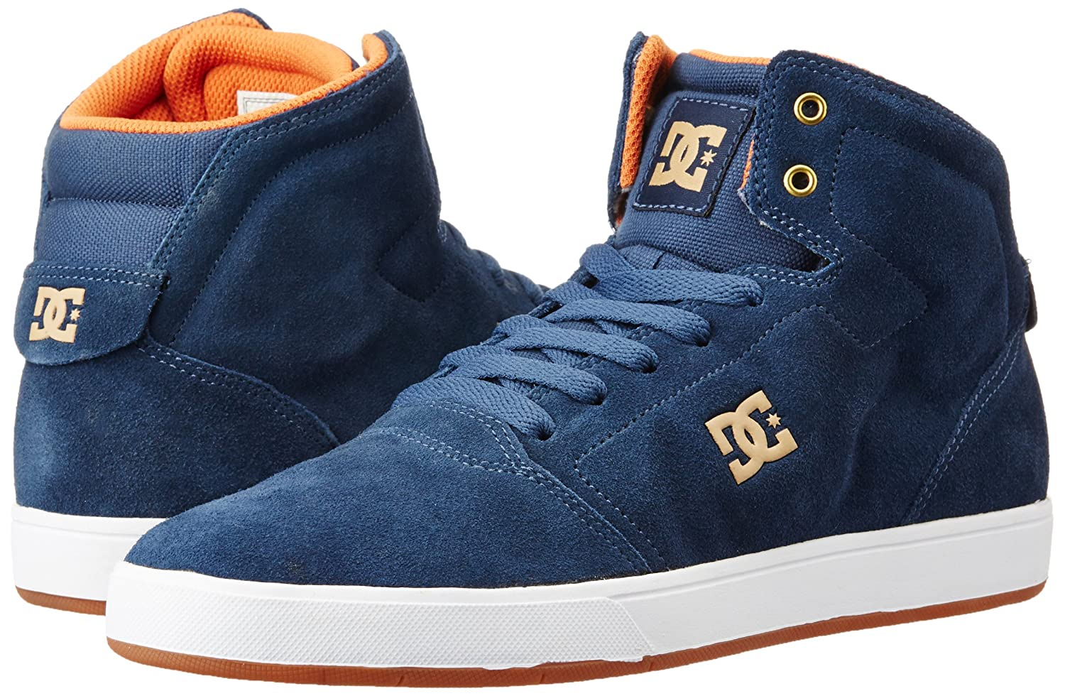 DC Men s Crisis High Navy Leather Sneakers - 5.5 UK India (38.5 EU)(6.5  US)  Buy Online at Low Prices in India - Amazon.in f2aff2998fdd9