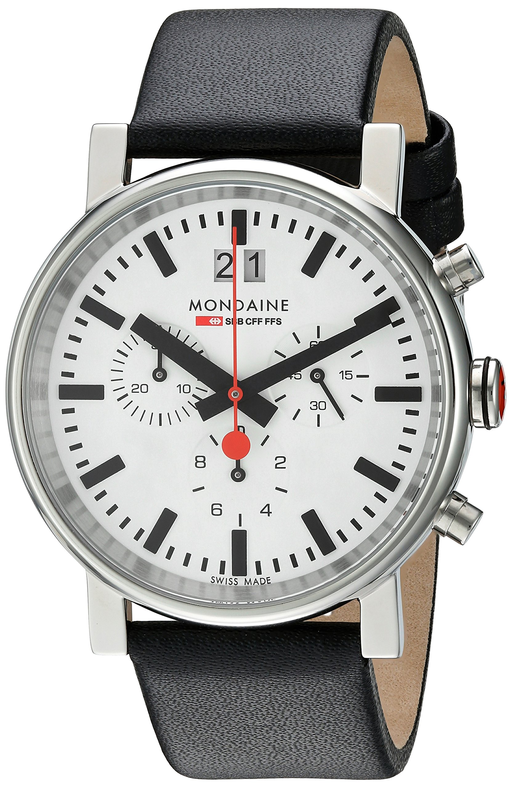 Mondaine Unisex A690.30304.11SBB Quartz Analog Chronograph Watch by Mondaine