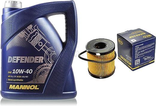 Filter Set Inspektionspaket 5 Liter Mannol Motoröl Defender 10w 40 Api Sl Cf Sct Germany Ölfilter Auto