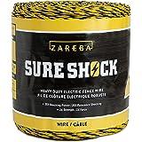 Zareba HDW1320YA-Z Heavy-Duty Sure Shock Aluminum Polywire, PVC-Coated Fiberglass and UV-Stabilized Electric Fence Line…