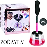 Electric Makeup Brush Cleaner & Dryer by Zoë Ayla - Premium Quality Cleans Make-Up Brushes Perfectly Within 30 Seconds Without Leaving Any Mess - Healthier Face and Skin