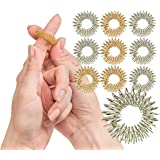 Spiky Sensory Finger Rings (Pack of 10) - Great Fidget / Sensory Toy for Kids and Adults - Spiky Finger Ring / Acupressure Ring Set