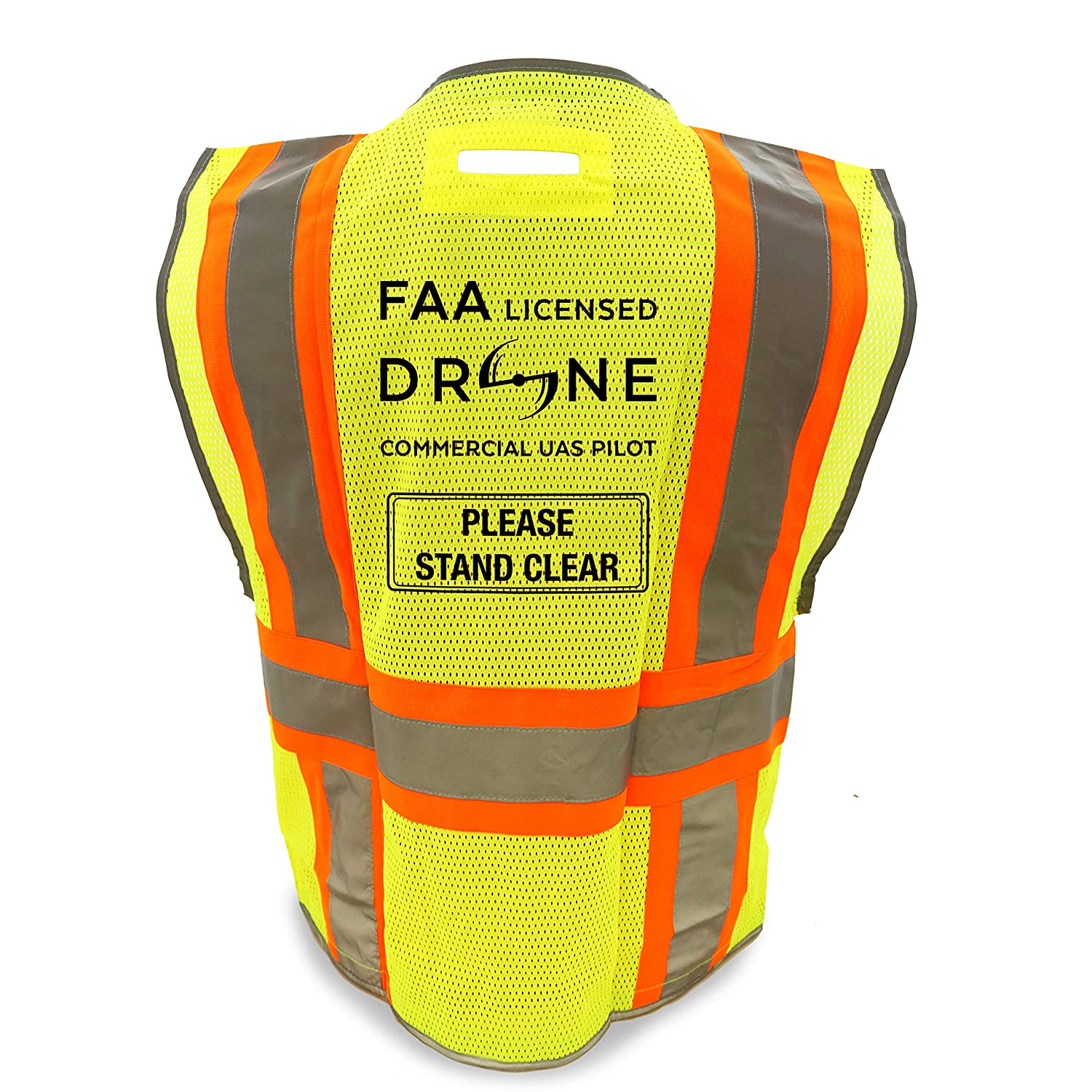 KwikSafety (Charlotte, NC) PILOT | Drone Safety Vest | Class 2 ANSI Compliant FAA Licensed | 360° High Visibility Reflective UAG Work Wear | Hi Vis Certified Commercial Pilot Men & Women | Small