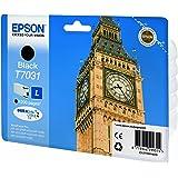 Epson C13T70314010 - Cartucho de tinta para Epson WP 4015/4025, 1200 páginas/24 ml, Negro