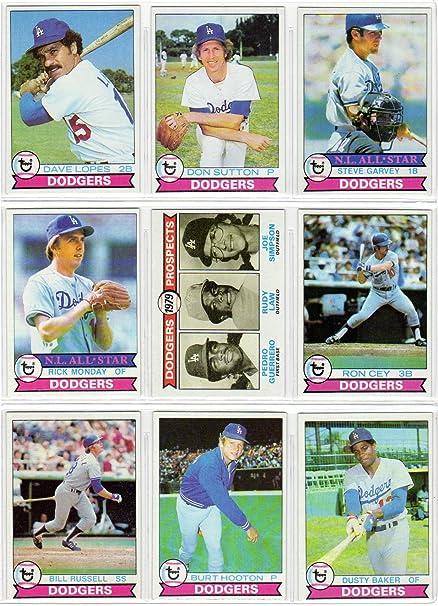 Amazoncom Los Angeles Dodgers 1979 Topps Baseball Team Set 27