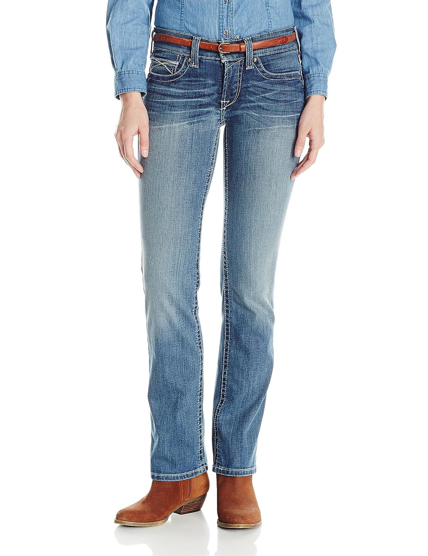 Ariat Women's Women's R.E.A.L. Straight Leg Icon Jean Ariat Womens Code 10019536