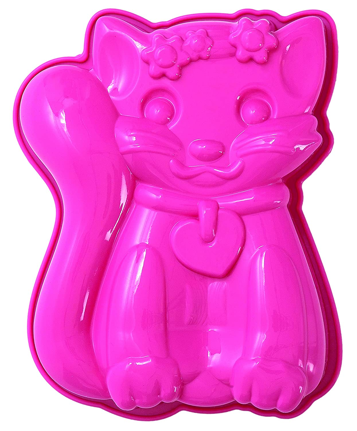 Pavoni FRT174 Platinum Silicone Sophia-Cat Mini Cake Mould, Pink