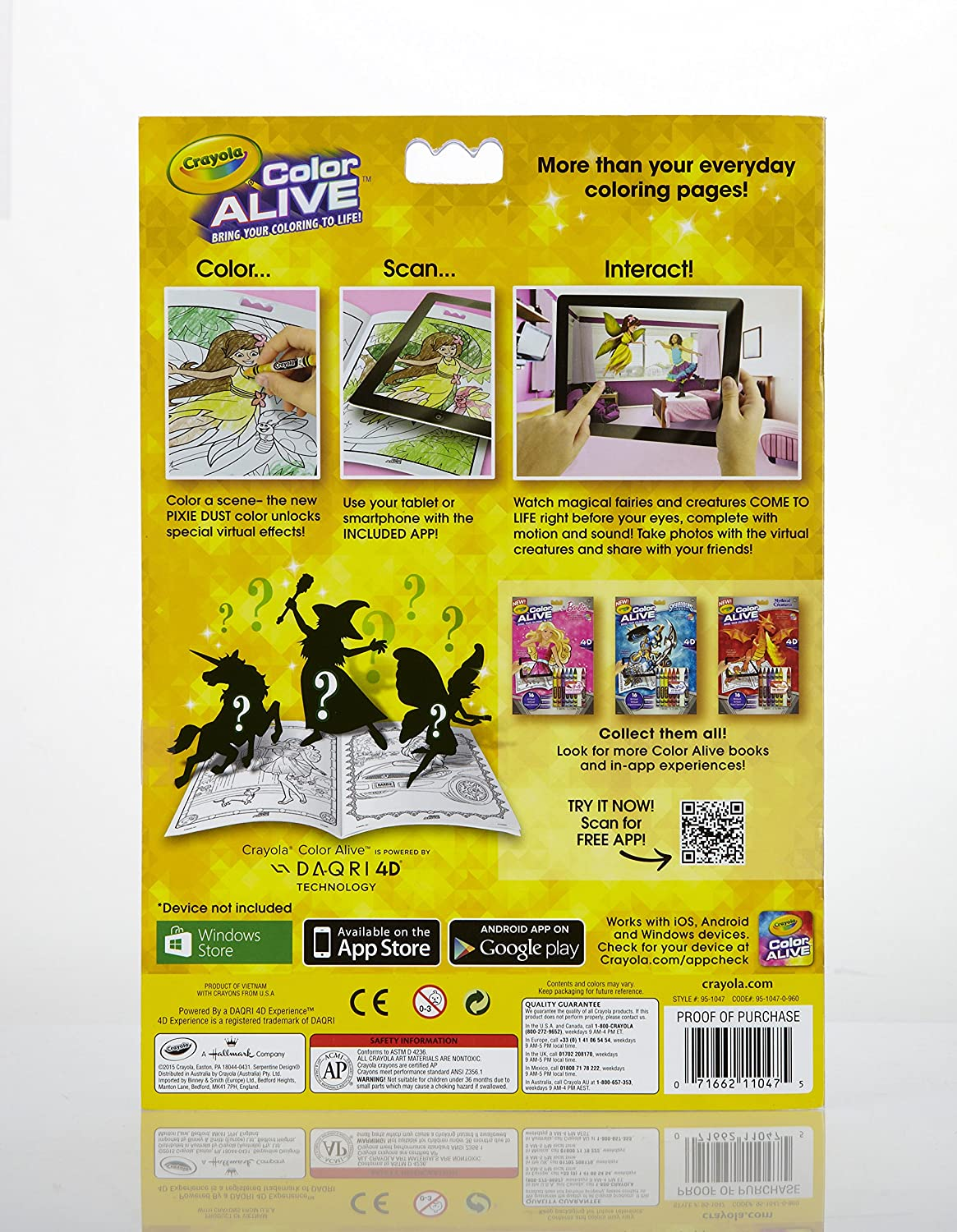 amazoncom crayola color alive action coloring pages combo set barbie and enchanted forest toys games - Color Alive Coloring Pages Minions