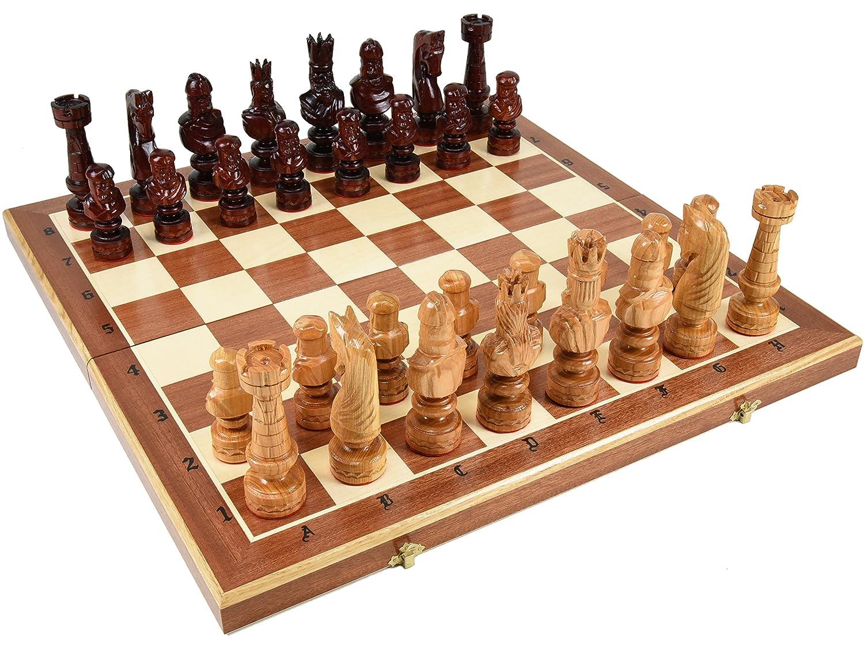 全日本送料無料 高級木製チェスセット:Caesar(カエサル)59.5cm×59.5cm B075R7JTD4 ポーランド製 ポーランド製 chessチェス盤チェス駒セット B075R7JTD4, あとむ運動本舗:f7f39baa --- nicolasalvioli.com
