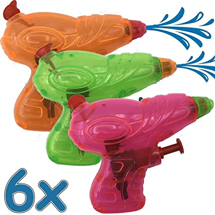 Carpeta® - 6 x Agua pistolas ┃ obsequios ┃ Pistola ...