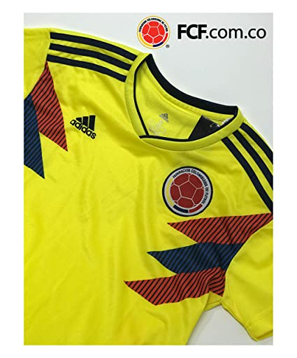 Amazon.com : Replica 2018 Russia FIFA Colombia Soccer Home Jersey for Adults. Camiseta de la seleccion Colombiana de Futbol 2018 : Sports & Outdoors