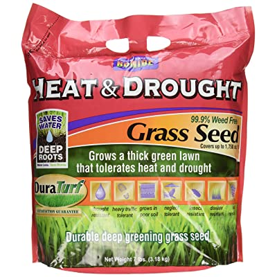 Bonide 60254 Heat and Drought Grass Seed, 7-Pound : Grass Plants : Garden & Outdoor