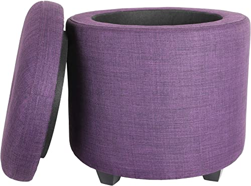 CASANINA Fabric Cushion Round Button Tufted Big and Deep Cylinder Storage Ottoman Footstool Review