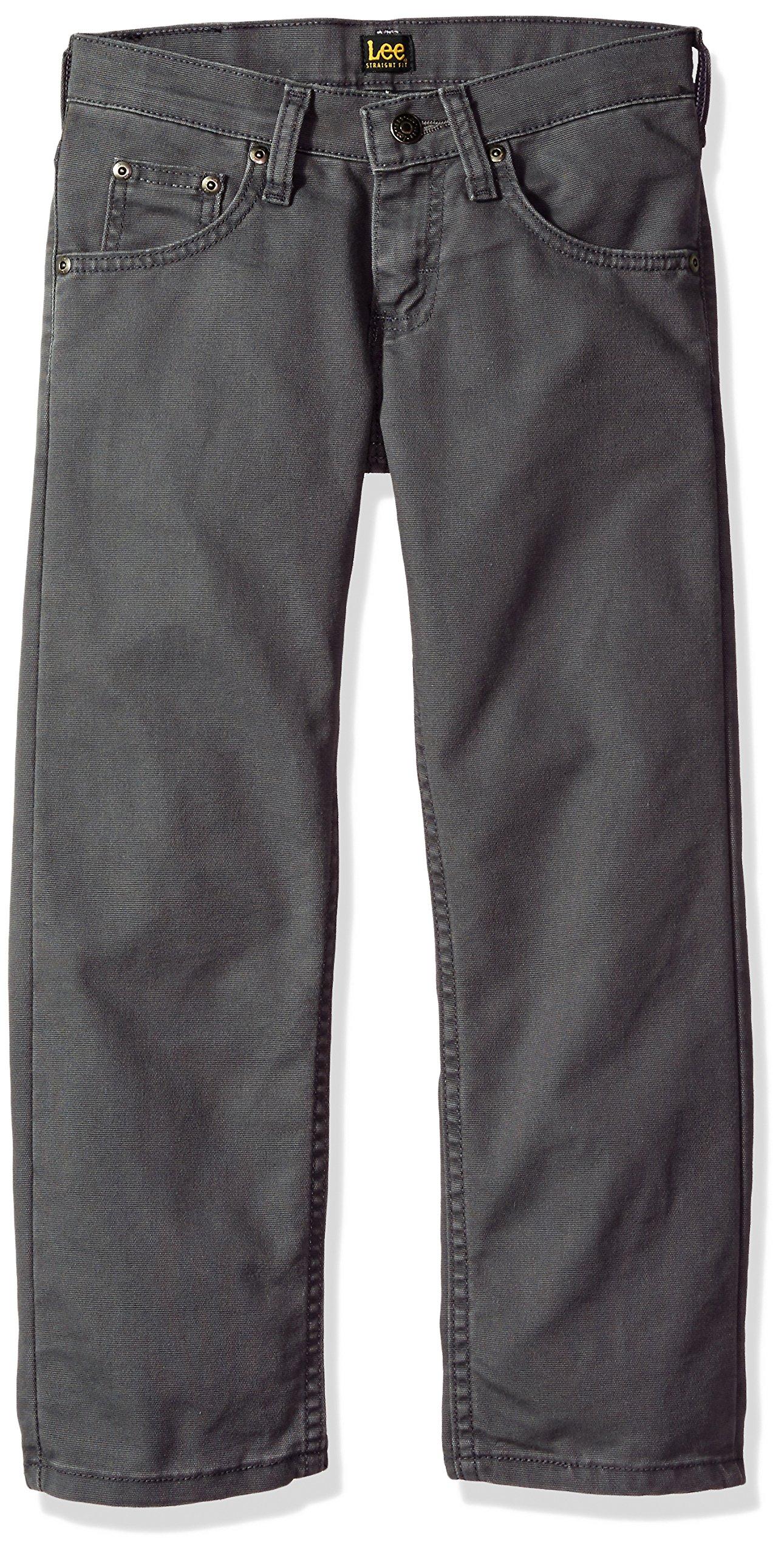 LEE Boys' Big Premium Select Fit Straight Leg Jean, Graphite, 18 Regular