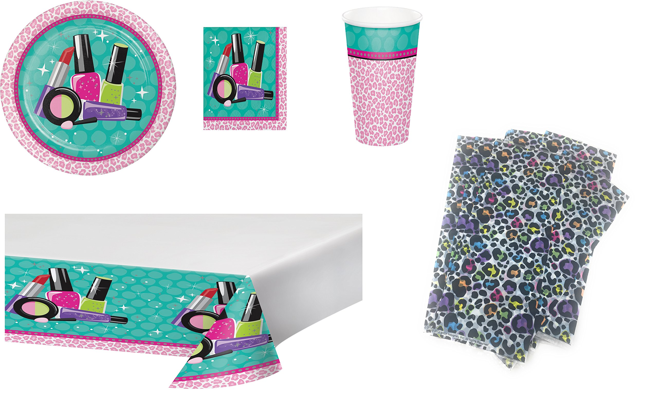 Sparkle Spa Complete Party Bundle (SERVES 16 w/Cloth, Cups, Goody Bags)