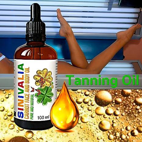 SINIVALIA Aceite de Zanahoria - Hidratante Antienvejecimiento para la Piel Seca o Grasa - Para Masaje Facial y el Tratamiento del Cabello - Aceleradores de ...