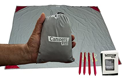 ebe5e1702d92 Campers will Pocket Blanket – Multi-Purpose Blanket – Portable, Easy to use  5.5 x 4.6 Ft – Premium Waterproof Outdoor Blanket/Raincoat