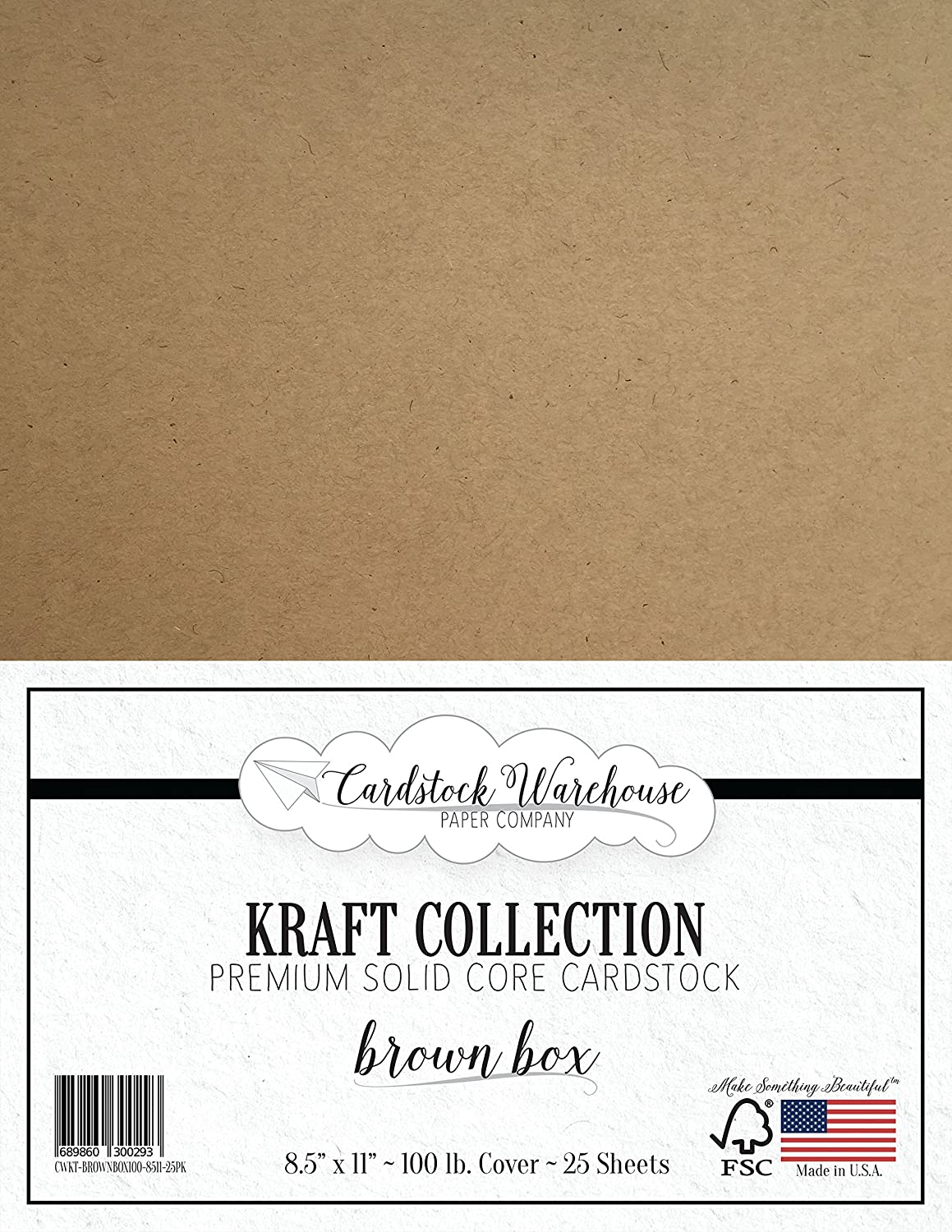 BROWN KRAFT Recycled Cardstock from Cardstock Warehouse - 8.5