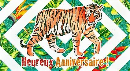 afie 69 - 4213 tarjeta feliz cumpleaños purpurina tigre ...