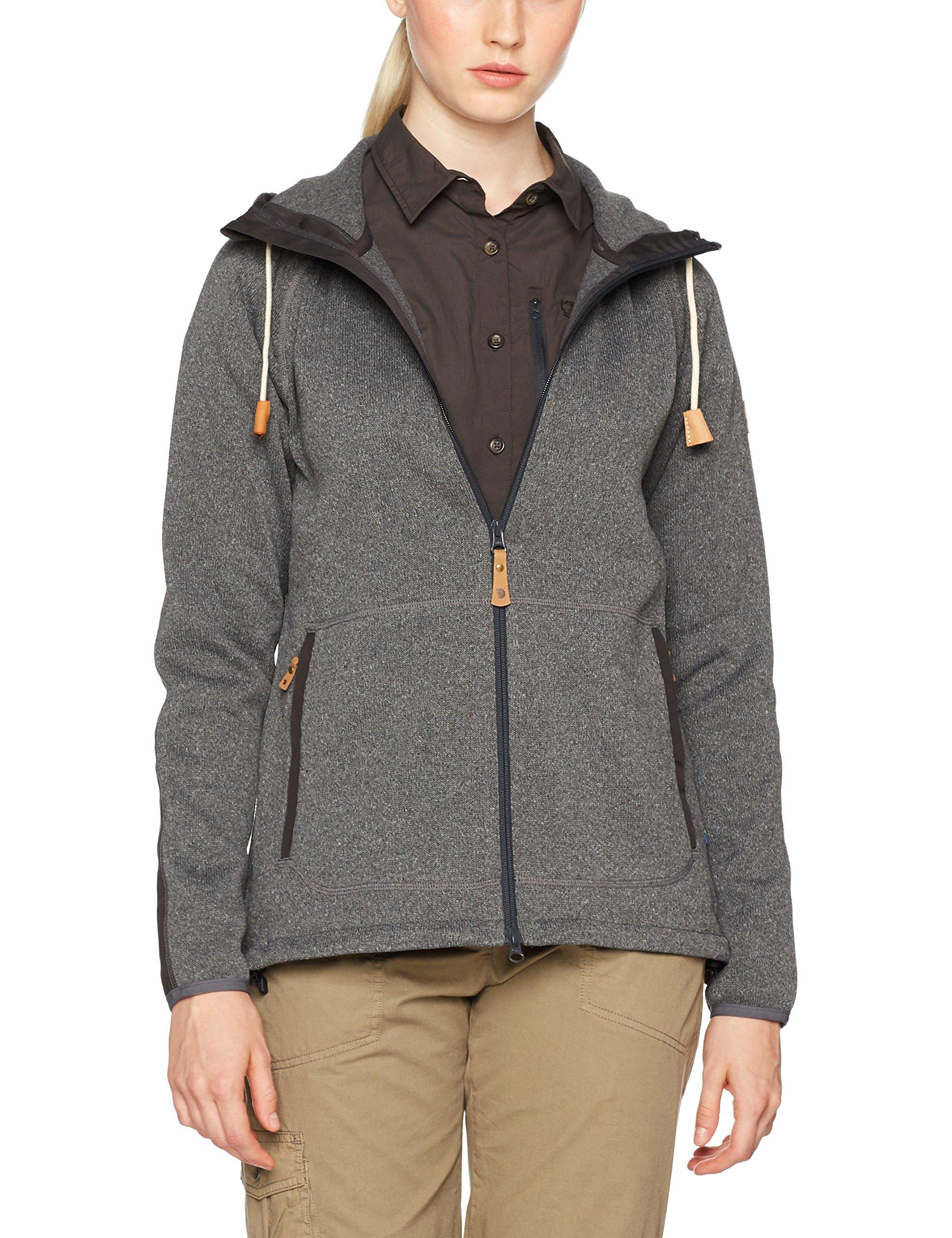 Fjallraven Women's Ovik Fleece Hoodie, Dark Grey, XS