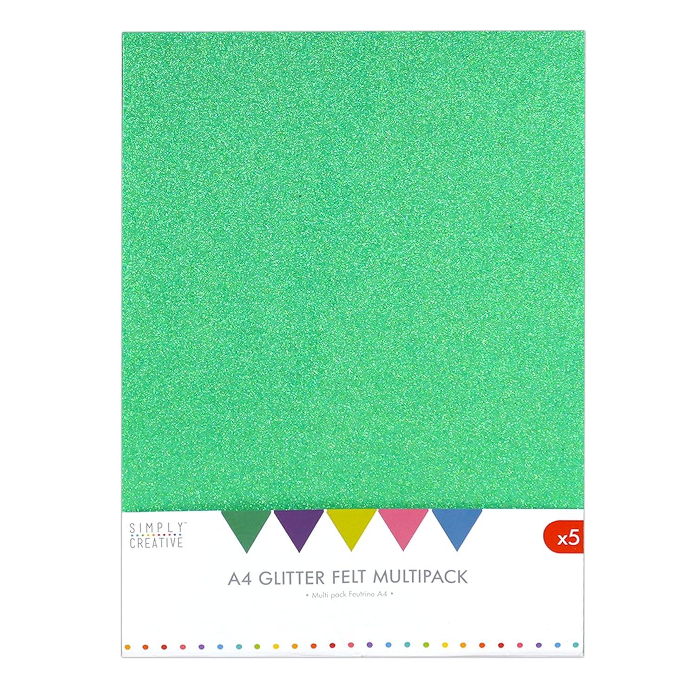 Semplicemente creativo A4 pack-multi glitter, feltro,, 30 x 22 x 2 cm 30x 22x 2cm Trimcraft SCPCK001