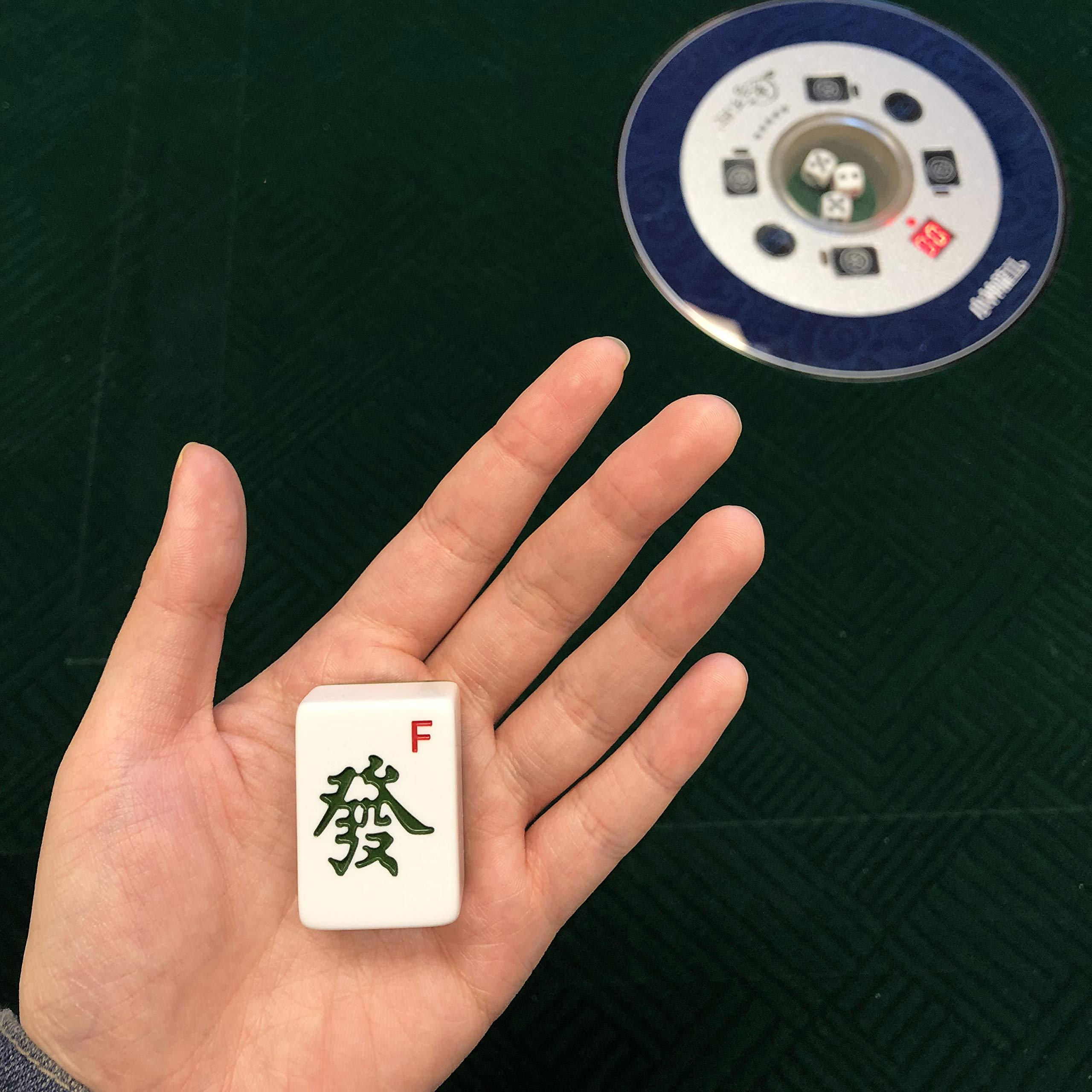 东方不败麻将桌 Automatic Mahjong Table with 4 Drawers + Free Hello Kitty Travel Mahjong - Chinese Style, Philippine Style, Comes 2 Sets of Tiles (Blue & Green) 36mm Tiles 小尺寸麻将牌 & 1 Table Cover