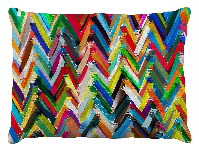 Kess InHouse Frederic LevyHadida Candy Cat bluee  bluee Rainbow Fleece Dog Bed, 30 by 40