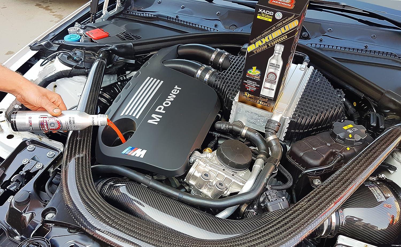 Aditivo para aceite de motor XADO, acondicionador atómico de metales Maximum Twin Turbo con 1 etapa revitalizante, aditivo para aceite de motor para ...