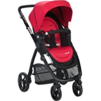 Safety 1st Visto 4 Wheel Stroller with Reversible Seat suitable for Newborns, Sunset Red