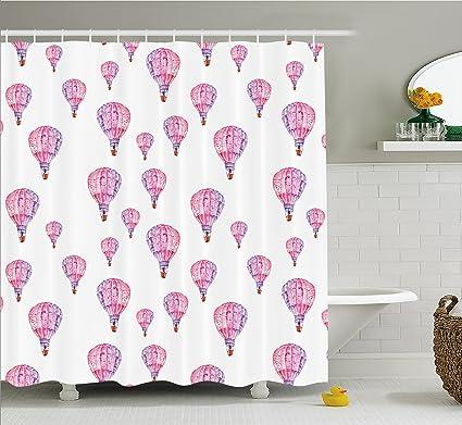 Malva decoración cortina de ducha por Ambesonne, Vintage Flying ...