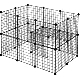 MUPATER Pet Playpen for Small Animal, Bunny Rabbit Guinea Pig Hamster Cage Fence Portable Play Yard, 24 Panels