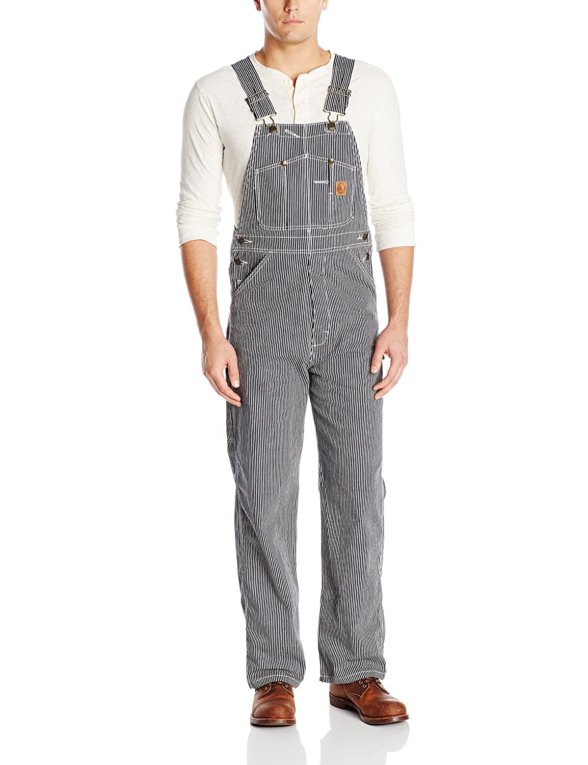 1910s Men's Working Class Clothing Berne Mens Original Unlined Bib Overall $49.99 AT vintagedancer.com